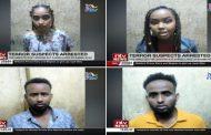 ذكرت وحدة مكافحة الإرهاب في الشرطة الكينية اليوم (الأحد ) أنها ألقت القبض على خمسة أشخاص يشتبه بتخطيطهم لتنفيذ هجمات إرهابية في منتزهات ومولات في نواحي طريق كيامبو في نيروبي