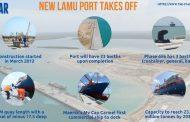 الرئيس أوهورو يفتتح الرصيف الأول في ميناء لامو